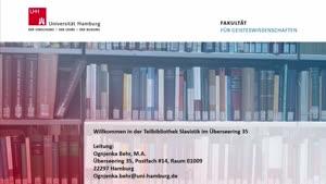 Thumbnail - Virtuelle Bibliotheksführung: Teilbibliothek Slavistik