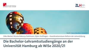 Thumbnail - Die Bachelor-Lehramtsstudiengänge an der Universität Hamburg ab WiSe 2020/21