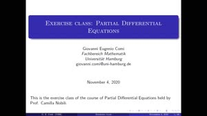 Thumbnail - Exercise class: Partial Differential Equations, Lecture 1, Part 1