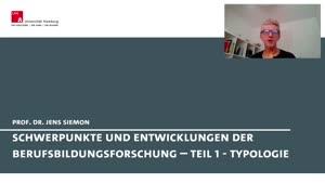 Miniaturansicht - Schwerpunkte und Entwicklungen der Berufsbildungsforschung - Teil 1 - Typologie