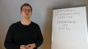 Thumbnail - Wissenschafliches Arbeiten in der VWL - Datenrecherche und Excel