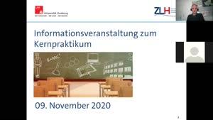 Thumbnail - Infoveranstaltung zum Kernpraktikum, 09.11.2020