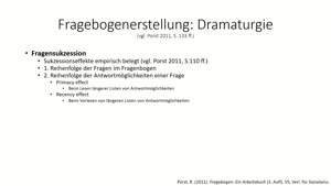 Thumbnail - Methodengrundkurs: Fragebogenerstellung: Fragebogendramaturgie