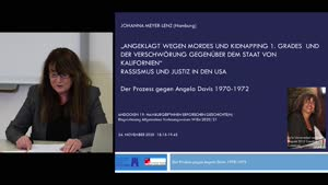 """Thumbnail - """"Angeklagt wegen Mordes 1. Grades und der Verschwörung gegenüber dem Staat von Kalifornien."""" Rassismus und Justiz in den USA. Der Prozess gegen Angela Davis 1970-1972"""