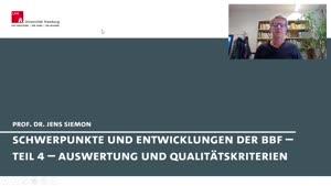 Thumbnail - Schwerpunkte und Entwicklungen der Berufsbildungsforschung - Teil 4 - Auswertung der Umfrage und Qualitätskriterien empirischer Forschung