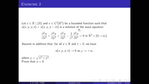 Thumbnail - Exercise class: Partial Differential Equations, Lecture 5, Part 2