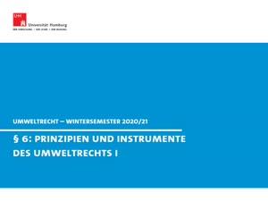 Miniaturansicht - Umweltrecht, § 6 (Umweltprinzipien und Planung)