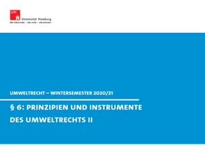 Miniaturansicht - Umweltrecht § 6 II (direkte und indirekte Verhaltenssteuerung)