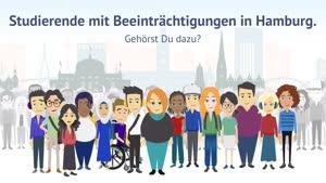 Thumbnail - Studierende mit Beeinträchtigungen in Hamburg. Gehörst du dazu?