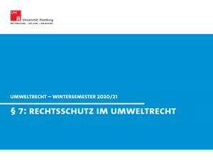 Miniaturansicht - Umweltrecht § 7 (Rechtsschutz in Umweltsachen)