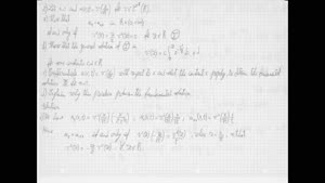 Thumbnail - Exercise class: Partial Differential Equations, Lecture 8, Part 2