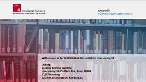 Thumbnail - Virtuelle Bibliotheksführung: Teilbibliothek Romanistik