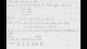 Thumbnail - Exercise class: Partial Differential Equations, Lecture 9, Part 3