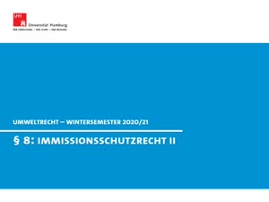 Miniaturansicht - Umweltrecht § 8 II (Immissionsschutzrecht II)