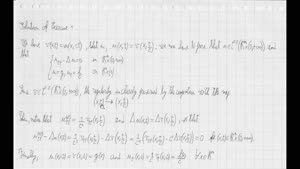 Thumbnail - Exercise class: Partial Differential Equations, Lecture 10, Part 2