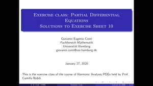 Thumbnail - Exercise class: Partial Differential Equations, Lecture 11, Part 1