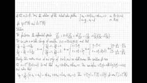 Thumbnail - Exercise class: Partial Differential Equations, Lecture 11, Part 2