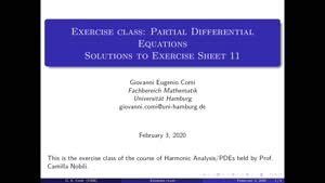 Thumbnail - Exercise class: Partial Differential Equations, Lecture 12, Part 1