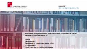 Thumbnail - Virtuelle Bibliotheksführung: Teilbibliothek Ältere deutsche Literatur