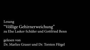 """Vorschaubild - """"Völlige Gehirnerweichung"""" – zu Gottfried Benn und Else Lasker-Schüler"""
