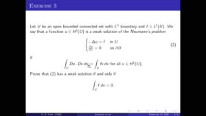 Thumbnail - Exercise class: Partial Differential Equations, Lecture 13, Part 3