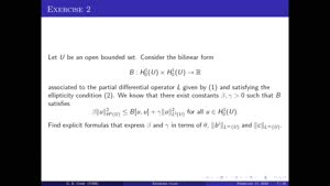 Thumbnail - Exercise class: Partial Differential Equations, Lecture 14, Part 2