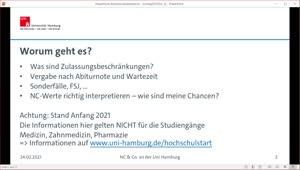 Thumbnail - NC & Co. – Wie sind meine Chancen im Auswahlverfahren der Uni Hamburg