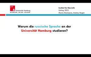Thumbnail - Warum die russische Sprache an der Universität Hamburg studieren?