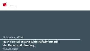 Miniaturansicht - Bachelorstudiengang Wirtschaftsinformatik der Universität Hamburg