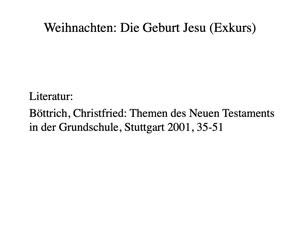 """Miniaturansicht - Neues Testament: """"Weihnachten"""" (Unitag 2021)"""