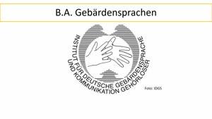 Vorschaubild - Vorstellung: Studiengang Gebärdensprachen B.A. (deutsche Fassung)