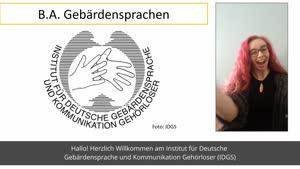 Thumbnail - Vorstellung: Studiengang Gebärdensprachen B.A. (Fassung in Deutscher Gebärdensprache)