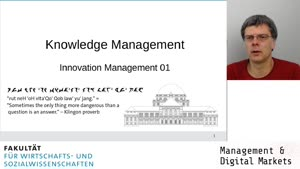 Vorschaubild - Session 01: Knowledge Management