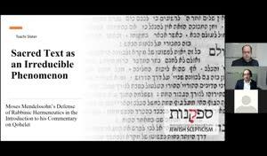Miniaturansicht - Sacred Text as an Irreducible Phenomenon: Moses Mendelssohn's Defence of Rabbinic Hermeneutics