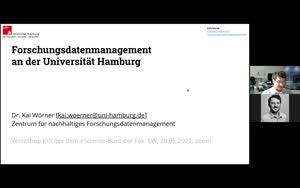 Thumbnail - Forschungsdatenmanagement an der Universität Hamburg - Dr. Kai Wörner, FDM Zentrum. eScience-Büro Fak. Erziehungswissenschaft