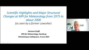 Miniaturansicht - Scientific highlights and major structural changes at MPI for Meteorology since 1975
