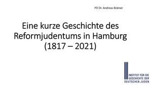 Miniaturansicht - Eine kurze Geschichte des Reformjudentums in Hamburg (-)
