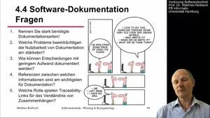 Miniaturansicht - 4.4.1 Software-Dokumentation Bedarf und Probleme