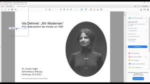 """Miniaturansicht - Ida Dehmel: """"Wir Modernen"""". Eine Netzwerkerin der Künste um """