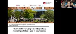 Vorschaubild - Interpreting Monolingual Ideologies in Courtrooms