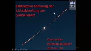 Miniaturansicht - David Walker: Eddingtons Messung der Lichtablenkung am Sonnenrand