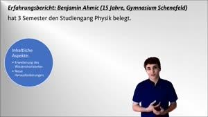 Miniaturansicht - Juniorstudium Erfahrungsbericht Physik