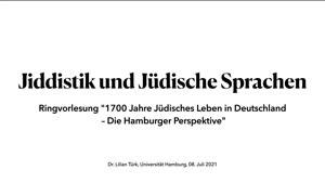 Miniaturansicht - Jiddistik und Jüdische Sprachen