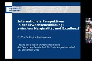 Vorschaubild - Internationale Perspektiven in der Erwachsenenbildung: Zwischen Marginalität und Exzellenz?
