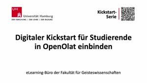 Vorschaubild - Tutorial: Digitaler Kickstart für Studierende in OpenOlat einbinden