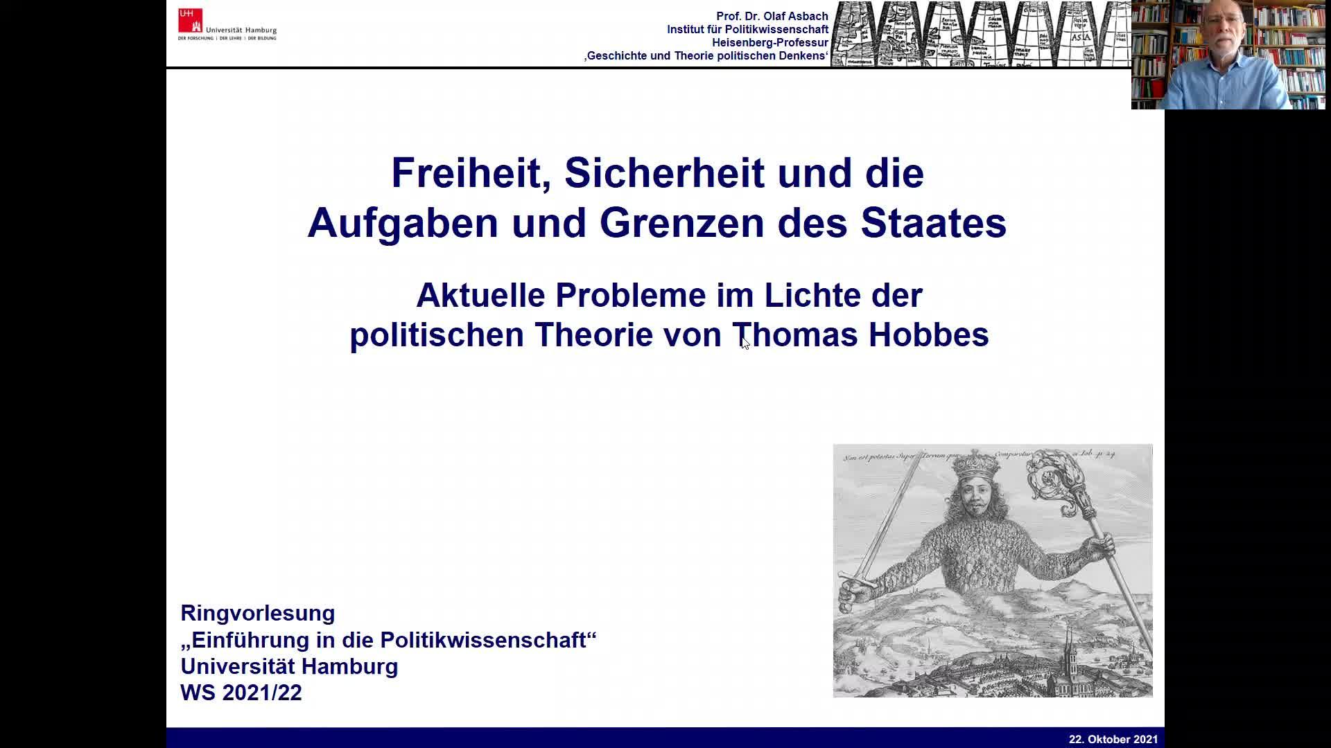 Thumbnail - 3. Sitzung: Freiheit, Sicherheit und die Aufgaben und Grenzen des Staates