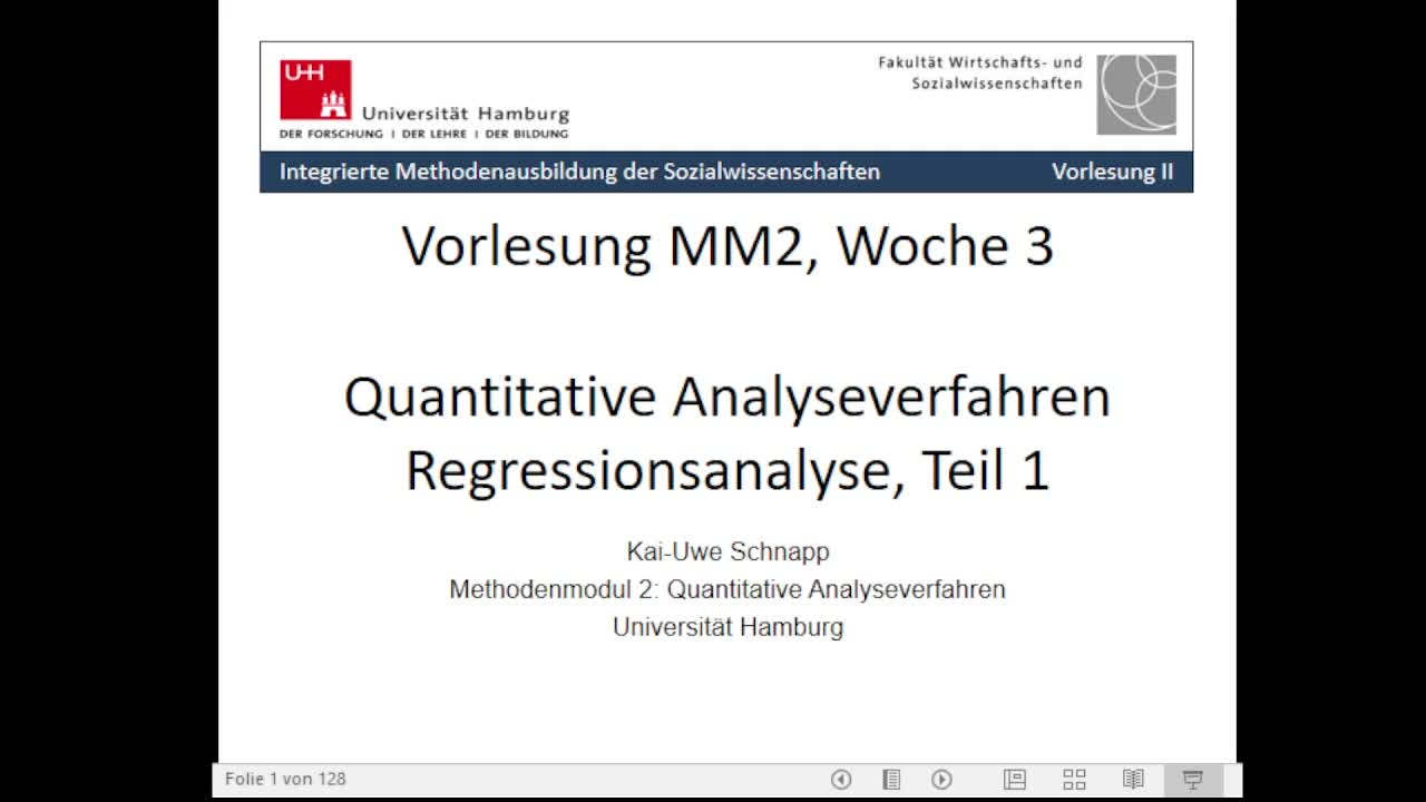 Thumbnail - 3. Sitzung: Regression Teil 1 - Video 1/2