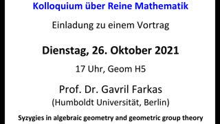 Miniaturansicht - Syzygies in algebraic geometry and geometric group theory