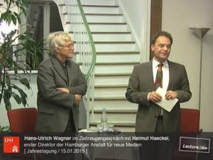 Miniaturansicht - Zeitzeugengespräch mit Helmut Haeckel, erster Direktor der Hamburger Anstalt für neue Medien
