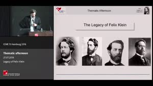 Miniaturansicht - Thematic Afternoon: The Legacy of Felix Klein